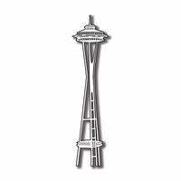 Scrapbook Customs - United States Collection - Washington - Laser Cut - Space Needle