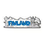 Scrapbook Customs - World Collection - Finland - Laser Cut - Word and Background