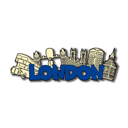 Scrapbook Customs World Collection England Laser Cut Word and Background London
