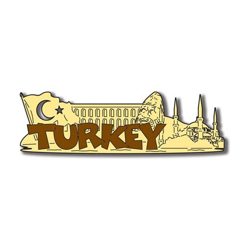 Scrapbook Customs - World Collection - Turkey - Laser Cut - Word and Background