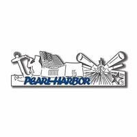 Scrapbook Customs - United States Collection - Hawaii - Laser Cut - Pearl Harbor - Word and Background