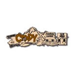Scrapbook Customs - United States Collection - Wyoming - Laser Cut - Cody - Word and Background