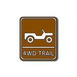Scrapbook Customs - Sports Collection - Laser Cut - 4wd Trail Sign