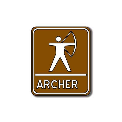 Scrapbook Customs - Sports Collection - Laser Cut - Archery Sign