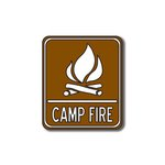 Scrapbook Customs - Sports Collection - Laser Cut - Camp Fire Sign