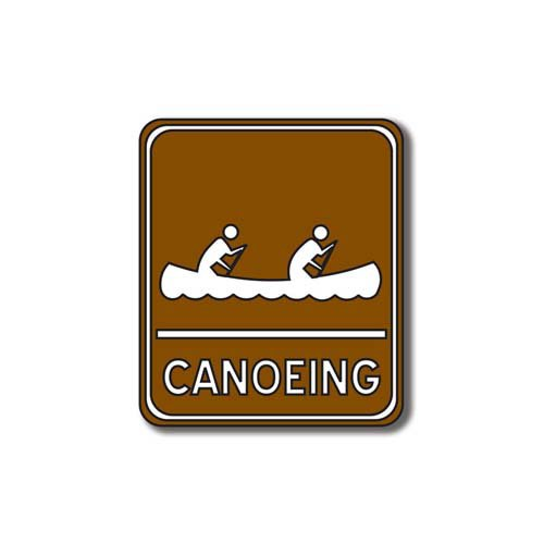 Scrapbook Customs - Sports Collection - Laser Cut - Canoeing Sign