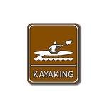 Scrapbook Customs - Sports Collection - Laser Cut - Kayaking Sign