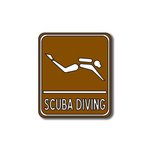 Scrapbook Customs - Sports Collection - Laser Cut - Scuba Diving Sign