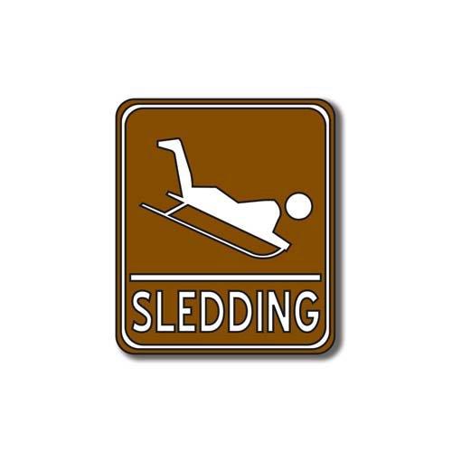 Scrapbook Customs - Sports Collection - Laser Cut - Sledding Sign