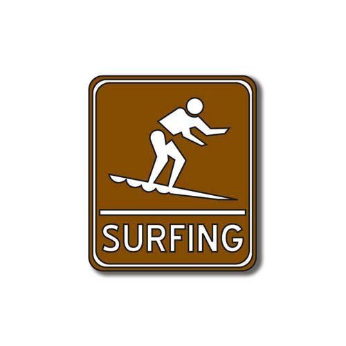 Scrapbook Customs - Sports Collection - Laser Cut - Surfing Sign
