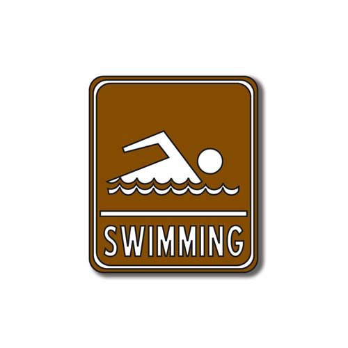 Scrapbook Customs - Sports Collection - Laser Cut - Swimming Sign