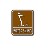 Scrapbook Customs - Sports Collection - Laser Cut - Water Skiing Sign