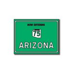 Scrapbook Customs - United States Collection - Arizona - Laser Cut - Now Entering Sign