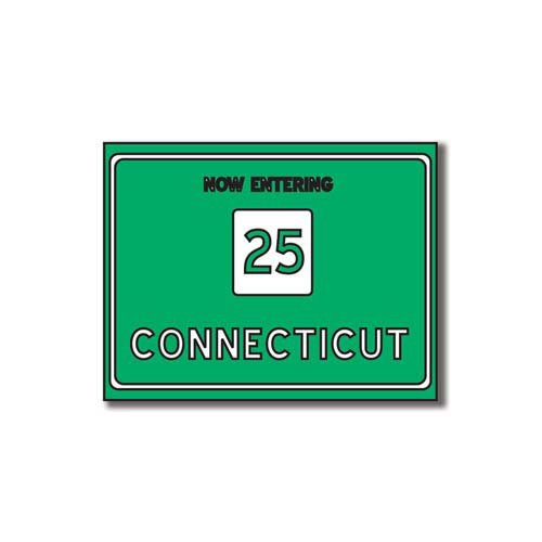 Scrapbook Customs - United States Collection - Connecticut - Laser Cut - Now Entering Sign