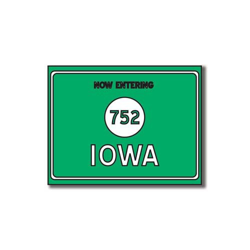 Scrapbook Customs - United States Collection - Iowa - Laser Cut - Now Entering Sign