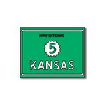 Scrapbook Customs - United States Collection - Kansas - Laser Cut - Now Entering Sign