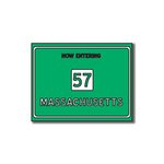 Scrapbook Customs - United States Collection - Massachusetts - Laser Cut - Now Entering Sign