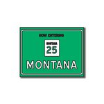 Scrapbook Customs - United States Collection - Montana - Laser Cut - Now Entering Sign