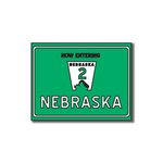 Scrapbook Customs - United States Collection - Nebraska - Laser Cut - Now Entering Sign