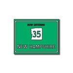 Scrapbook Customs - United States Collection - New Hampshire - Laser Cut - Now Entering Sign