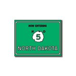 Scrapbook Customs - United States Collection - North Dakota - Laser Cut - Now Entering Sign