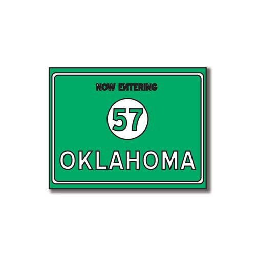 Scrapbook Customs - United States Collection - Oklahoma - Laser Cut - Now Entering Sign