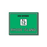 Scrapbook Customs - United States Collection - Rhode Island - Laser Cut - Now Entering Sign