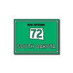 Scrapbook Customs - United States Collection - South Dakota - Laser Cut - Now Entering Sign