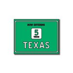 Scrapbook Customs - United States Collection - Texas - Laser Cut - Now Entering Sign