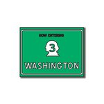 Scrapbook Customs - United States Collection - Washington - Laser Cut - Now Entering Sign