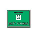 Scrapbook Customs - United States Collection - West Virginia - Laser Cut - Now Entering Sign