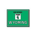 Scrapbook Customs - United States Collection - Wyoming - Laser Cut - Now Entering Sign
