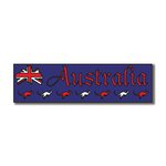 Scrapbook Customs - World Collection - Australia - Laser Cut - Travel Topper