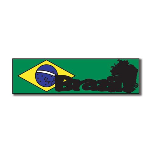 Scrapbook Customs - World Collection - Brazil - Laser Cut - Travel Topper