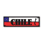 Scrapbook Customs - World Collection - Chile - Laser Cut - Travel Topper