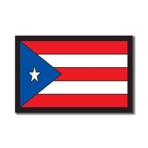Scrapbook Customs - World Collection - Puerto Rico - Laser Cut - Flag