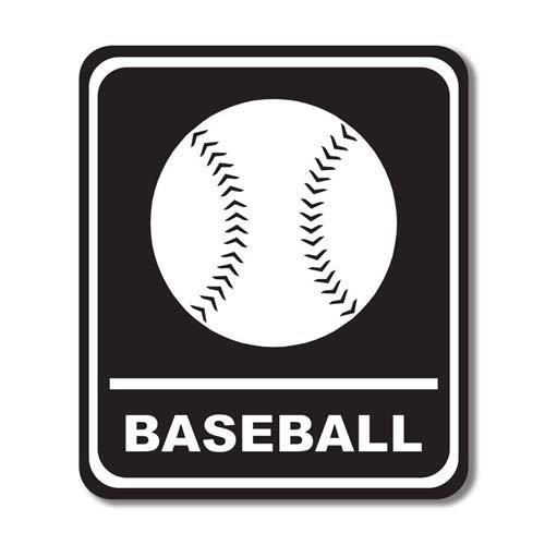Scrapbook Customs - Sports Collection - Laser Cut - Baseball Sign