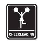 Scrapbook Customs - Sports Collection - Laser Cut - Cheerleading Sign