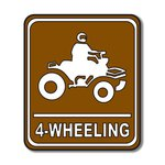 Scrapbook Customs - Sports Collection - Laser Cut - 4 Wheeling Sign