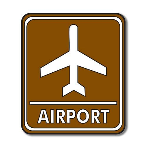 Scrapbook Customs - Sports Collection - Laser Cut - Airport Sign