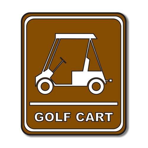 Scrapbook Customs - Sports Collection - Laser Cut - Golf Cart Sign