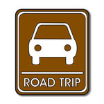 Scrapbook Customs - Sports Collection - Laser Cut - Road Trip Sign