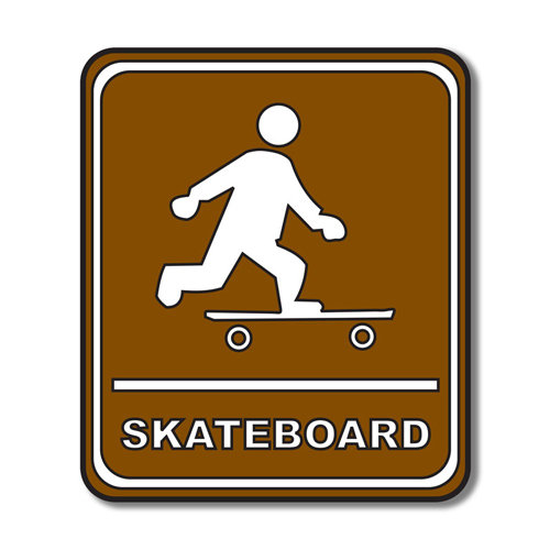Scrapbook Customs - Sports Collection - Laser Cut - Skateboard Sign