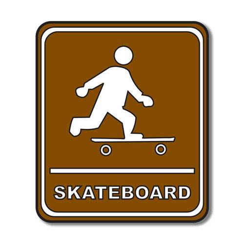 Scrapbook Customs - Sports Collection - Laser Cut - Skateboard Sign
