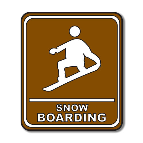 Scrapbook Customs - Sports Collection - Laser Cut - Snow Boarding Sign