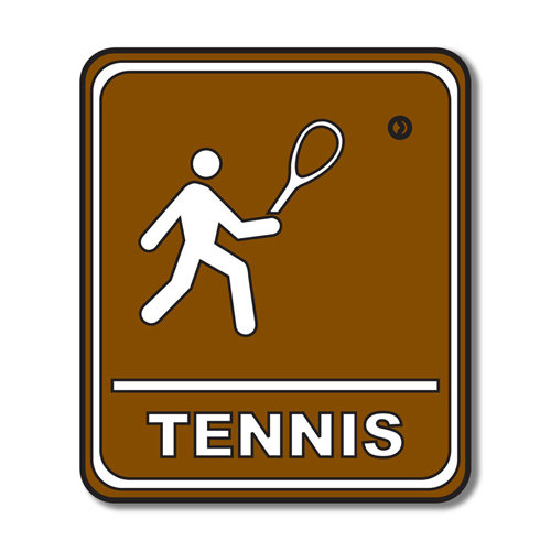Scrapbook Customs - Sports Collection - Laser Cut - Tennis Sign