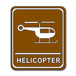 Scrapbook Customs - Sports Collection - Laser Cut - Helicopter Sign