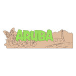 Scrapbook Customs - World Collection - Aruba - Laser Cut - Word
