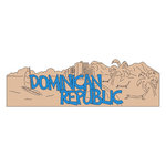 Scrapbook Customs - World Collection - Dominican Republic - Laser Cut - Word and Background