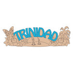 Scrapbook Customs - World Collection - Trinidad - Laser Cut - Word and Background